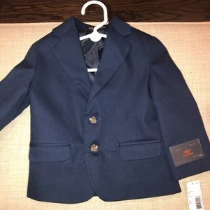New with tags toddler navy blue blazer